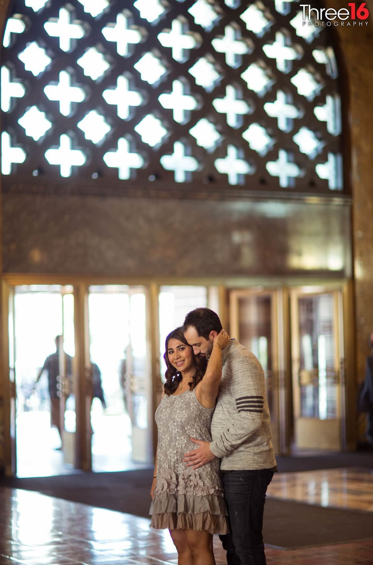 Los Angeles Union Station Engagement Photos LA County  Urban Unique