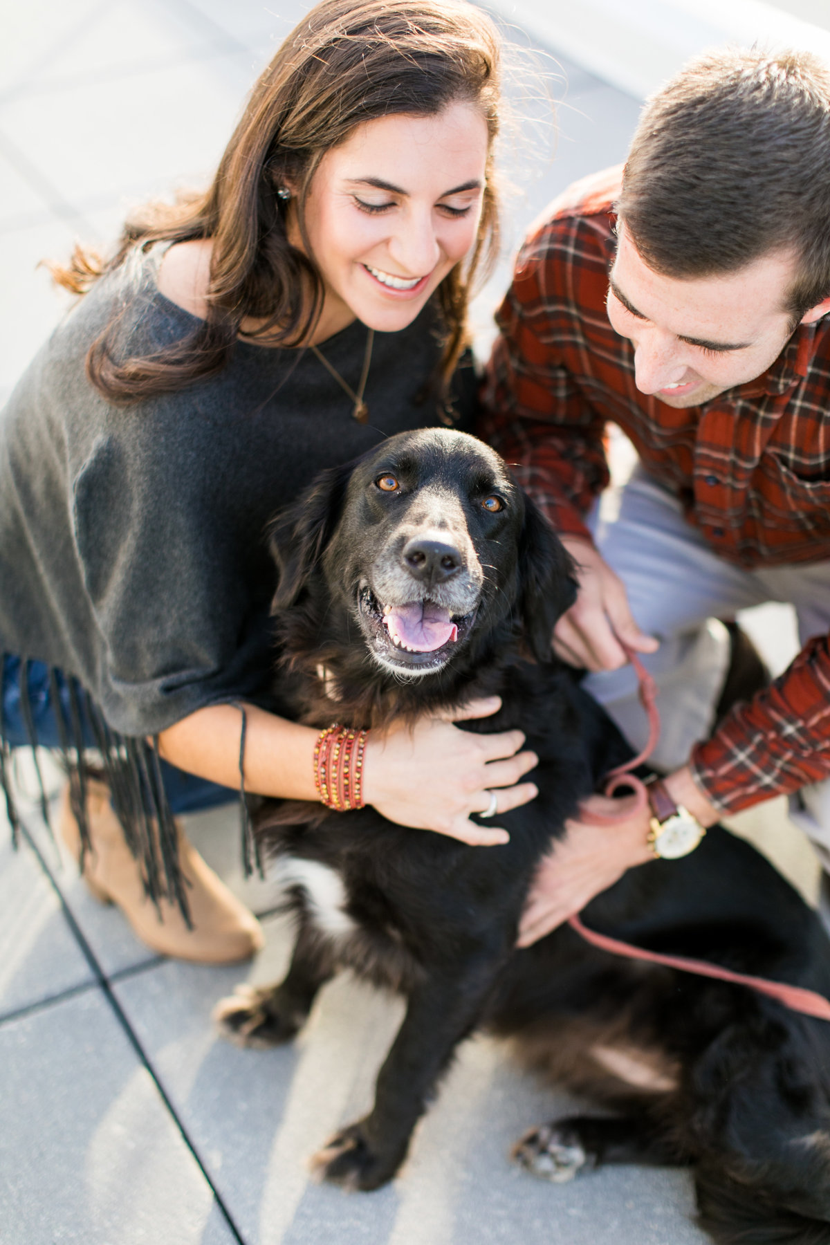 Baltimore Engagement photos with dog