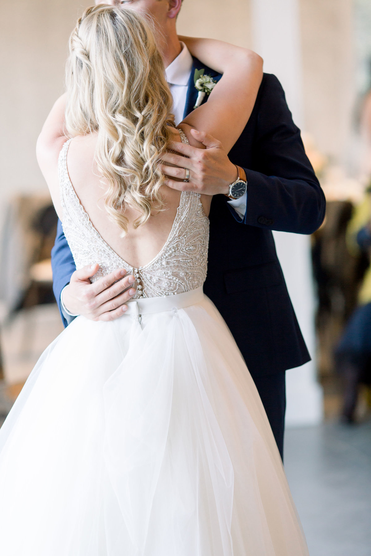 Father-daughter dance at Woodlands Colorado wedding