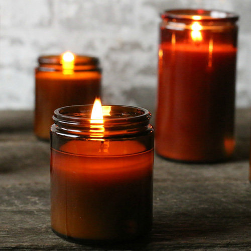 apothecary glass candles