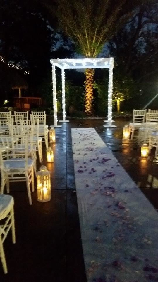 Light chuppah lavan catering