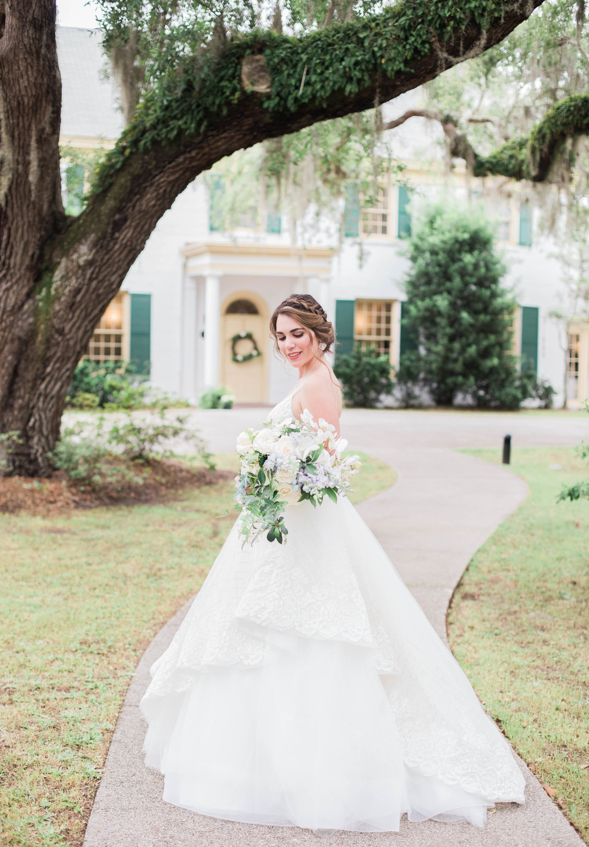 Bride at Ribault Club Wedding by Jacksonville Wedding Photographer