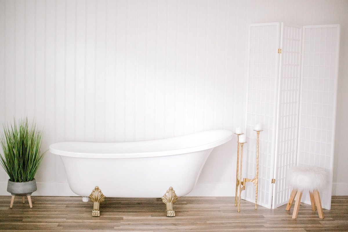 Clawfoot Tub Milk Bath Boudoir Chesapeake Norfolk VA Beach Photography Studio Yours Truly Portraiture