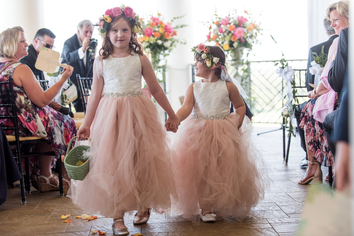 flower girls in the wedding ceremony