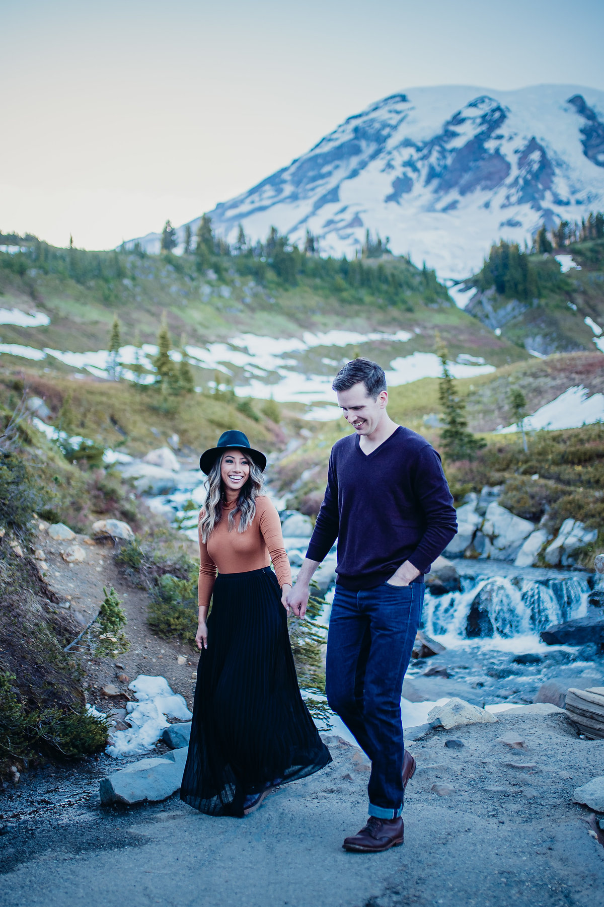 Engagement Session on Mount Rainier in Washington State