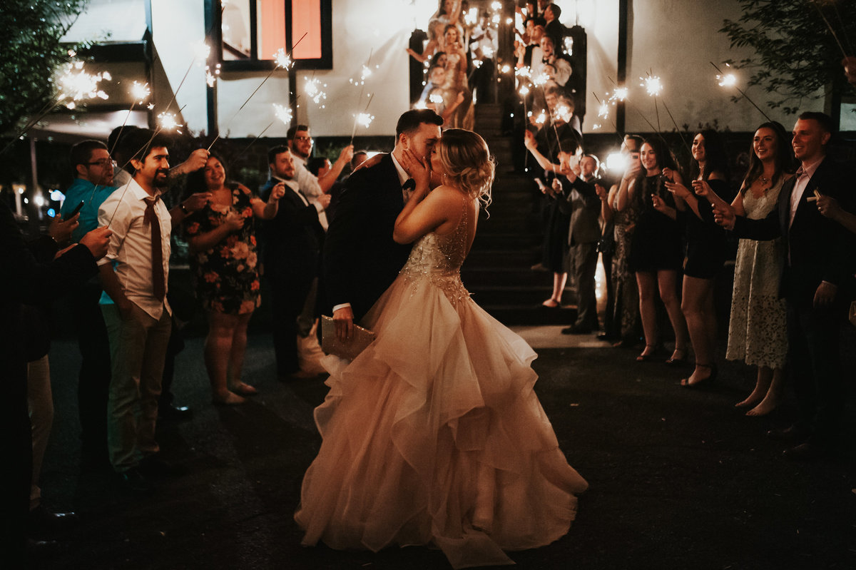 sparkler send off mainline wedding