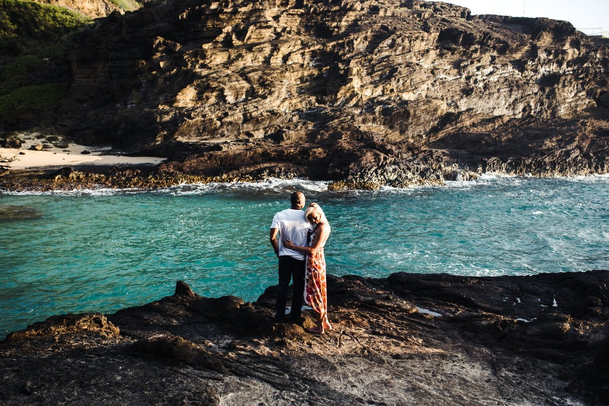 Eternity Beach Honolulu Hawaii Destination Engagement Session - 38