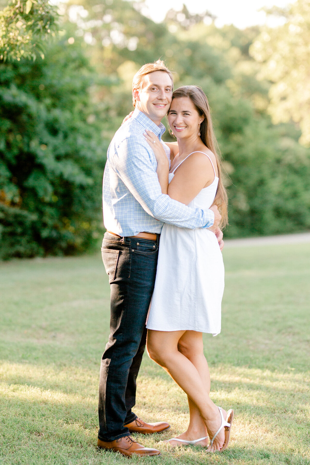 Christina & Steven Engagement Session at Prairie Creek Park in Richardson, Texas | DFW Wedding Photographer | Sami Kathryn Photography-1