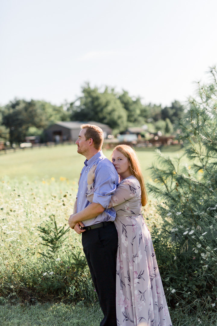 Sunflower Engagement Session0005