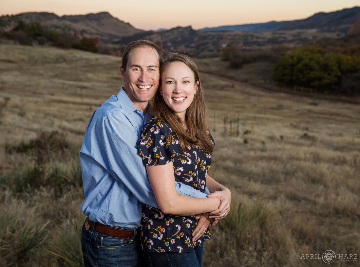 Mom and Dad Photo at Colorado Family Photography Session in Colorado