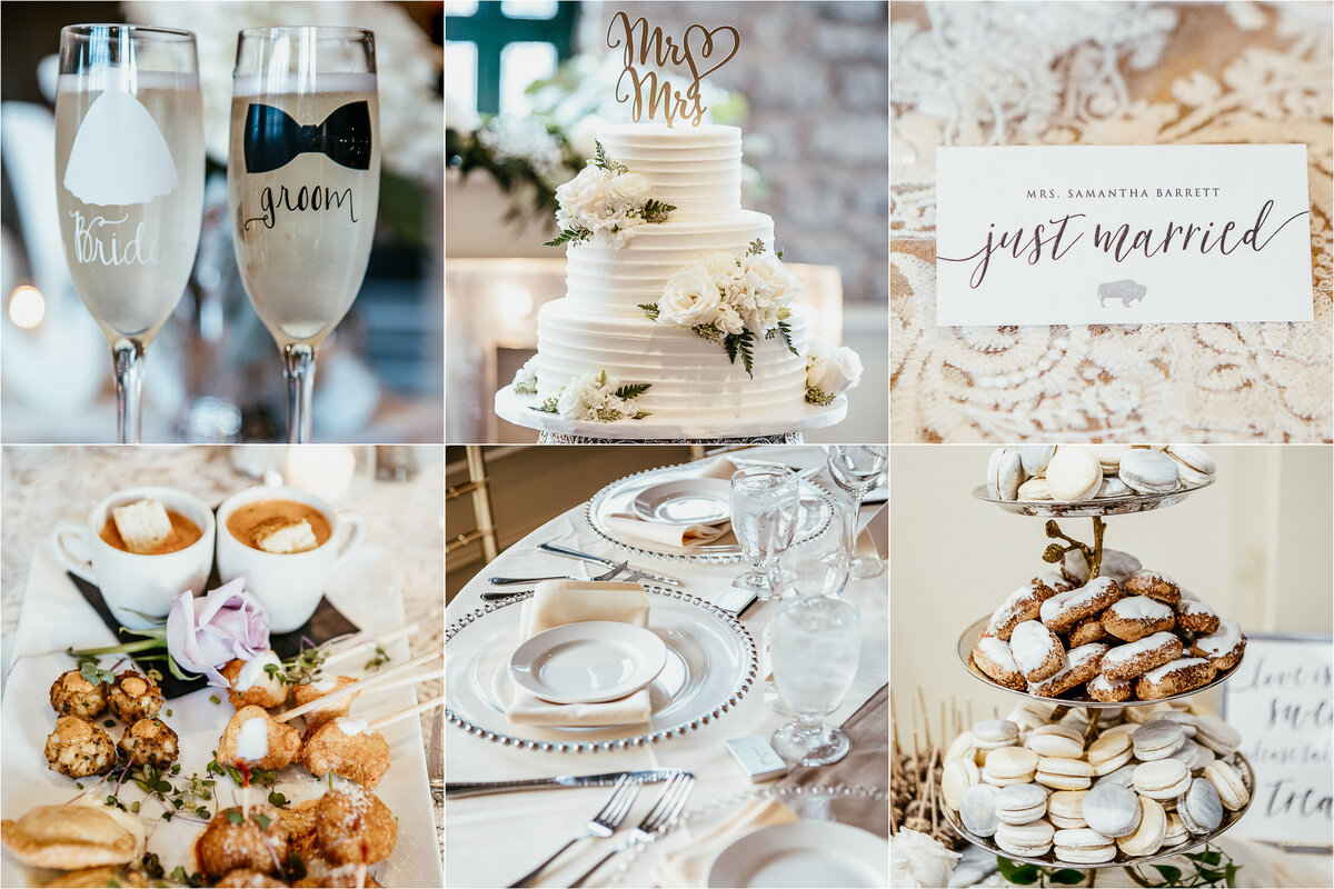 Gallery of white classic themed wedding elements