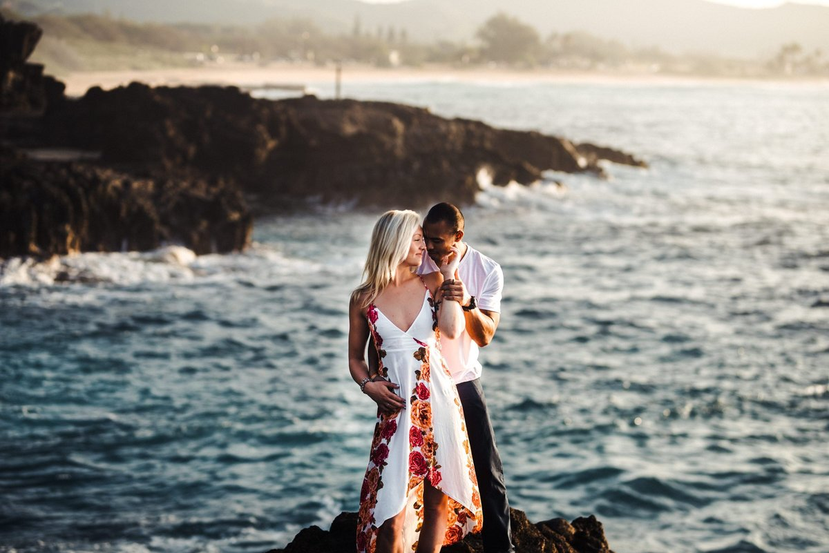 Eternity Beach Honolulu Hawaii Destination Engagement Session - 27
