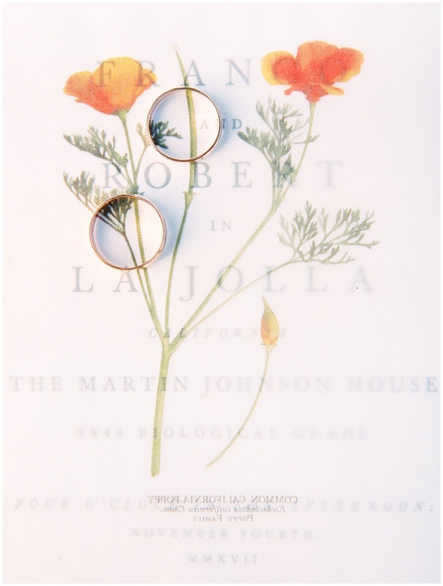 La Jolla Wedding Invitations California Poppy