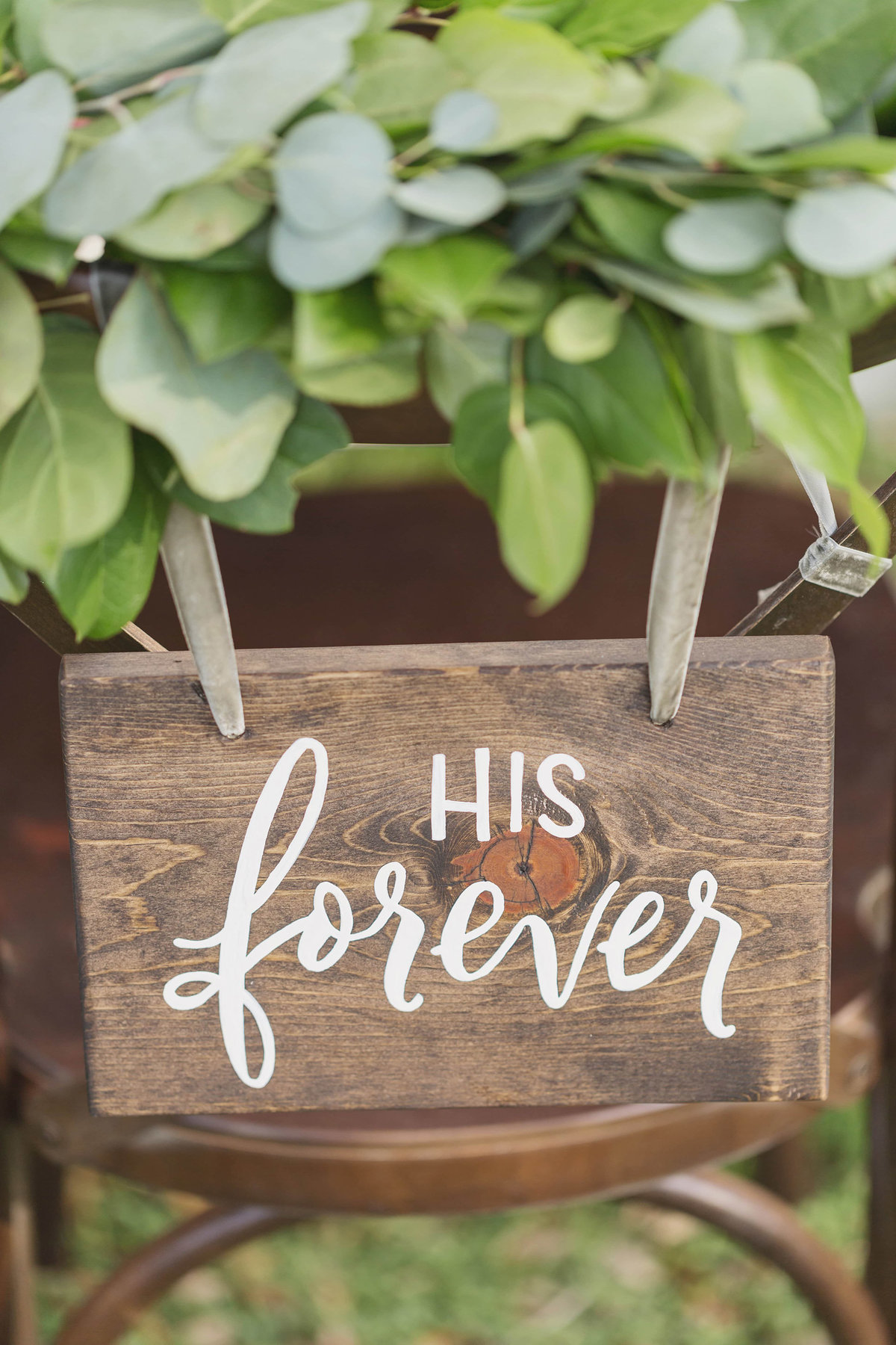 wedding chair sign decor