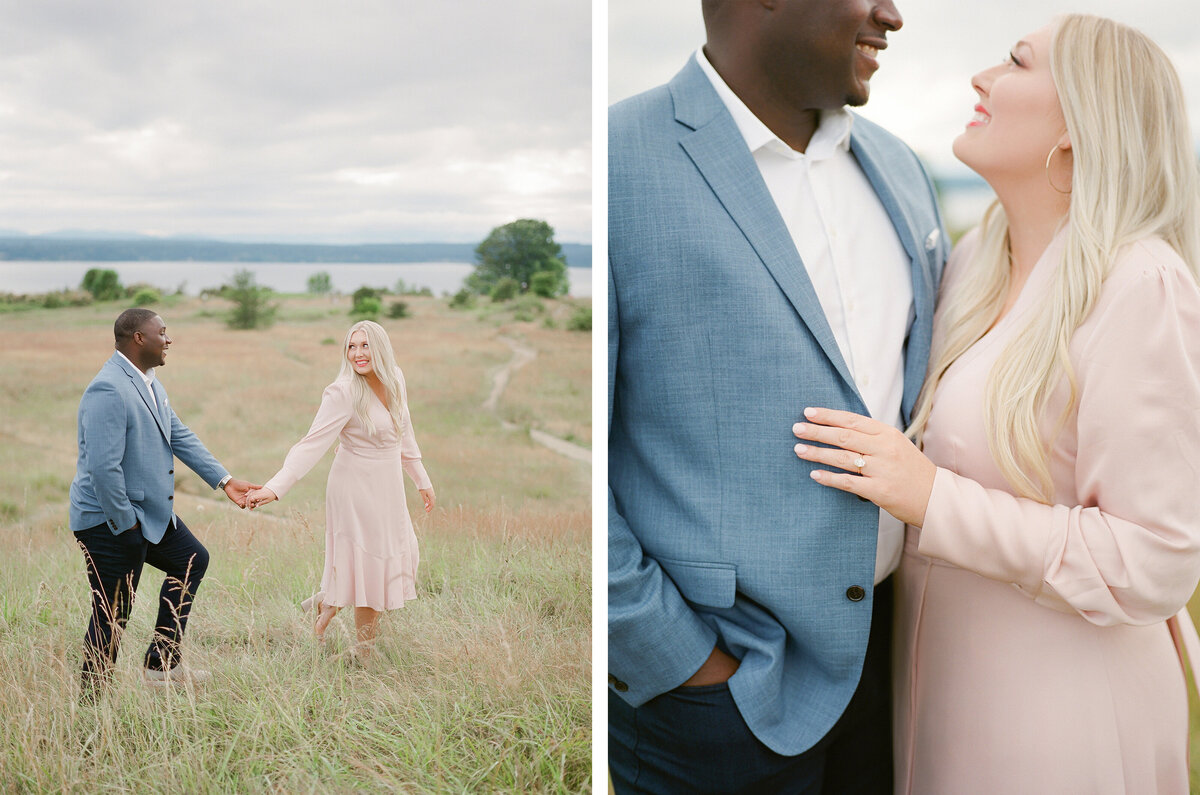 Discovery Park Engagement Session on Film - Tetiana Photography - Fine Art - Light and Airy -1