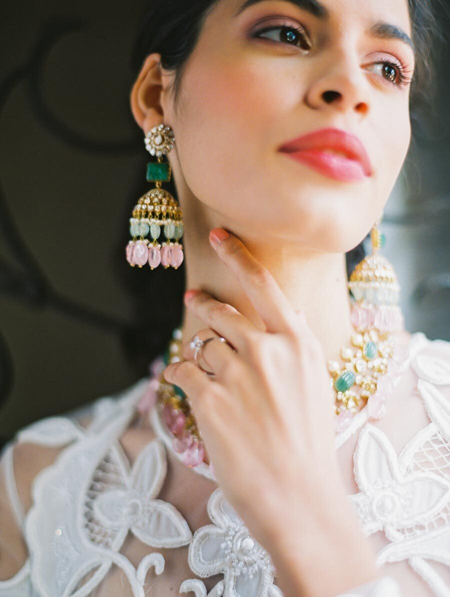 Statement Earrings Bridal Inspiration Bonnie Sen Photography