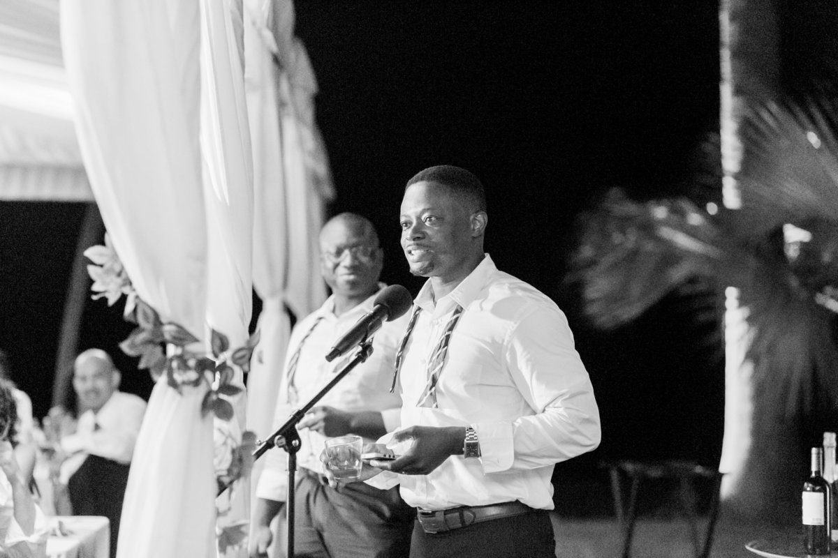 Groomsmen speech at Barbados destination wedding