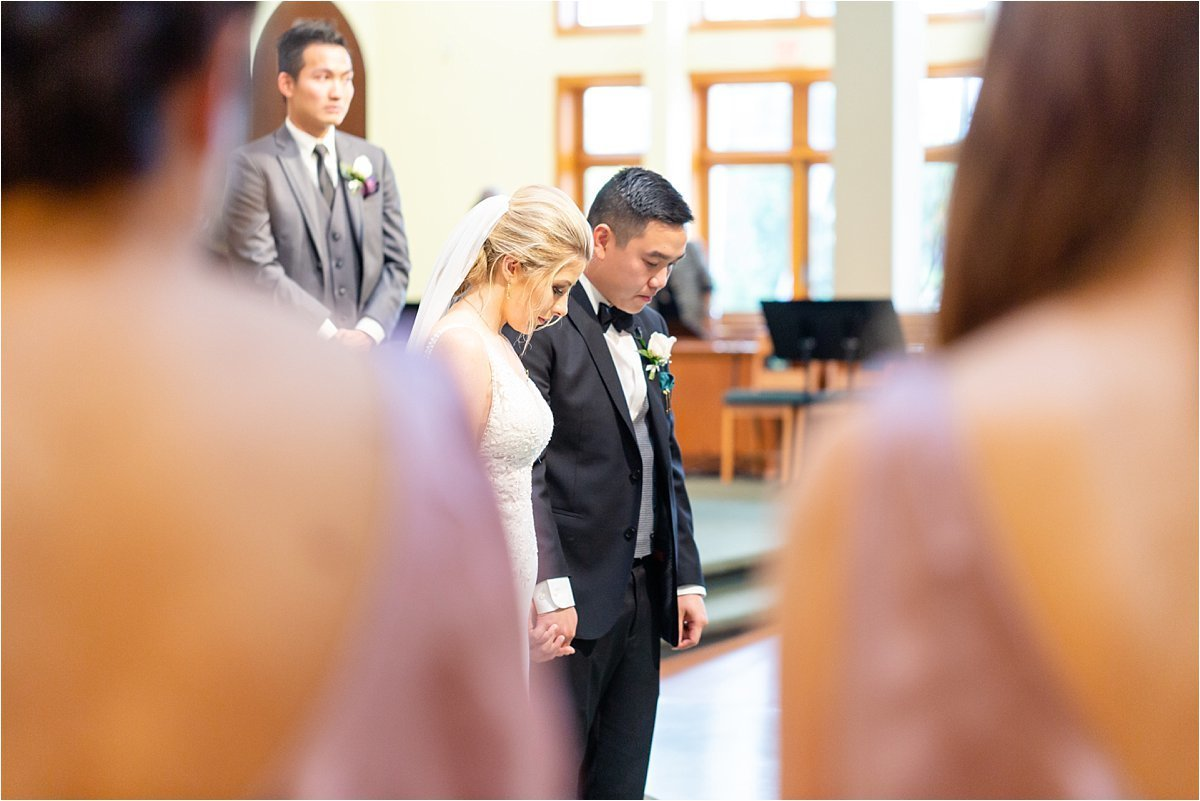 Mary Mother of God Parish Wedding Ceremony Church Venue in Oakville Ontario by Dylan and Sandra Photography
