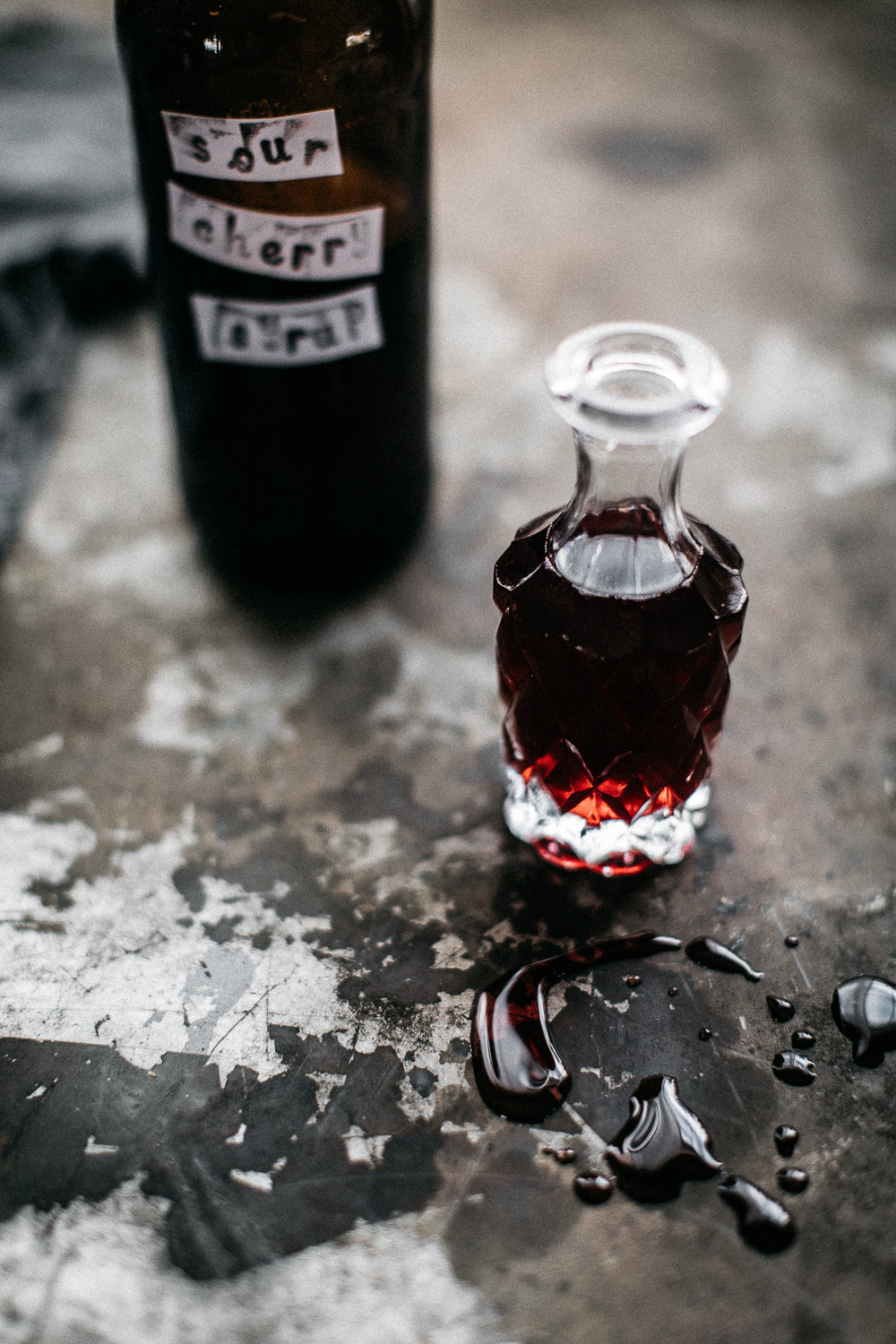 Sour Cherry Syrup - Anisa Sabet - The Macadames - Food Travel Lifestyle Photographer-101