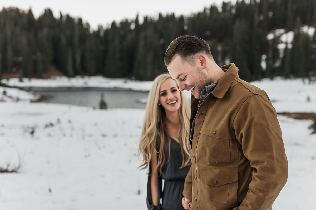 Snowy Mount Rainier Engagement Photos-20