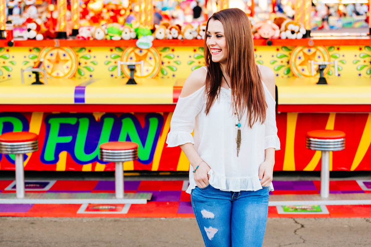 Colorful Senior Portraits - Arizona State Fair - Lunabear Studios-5