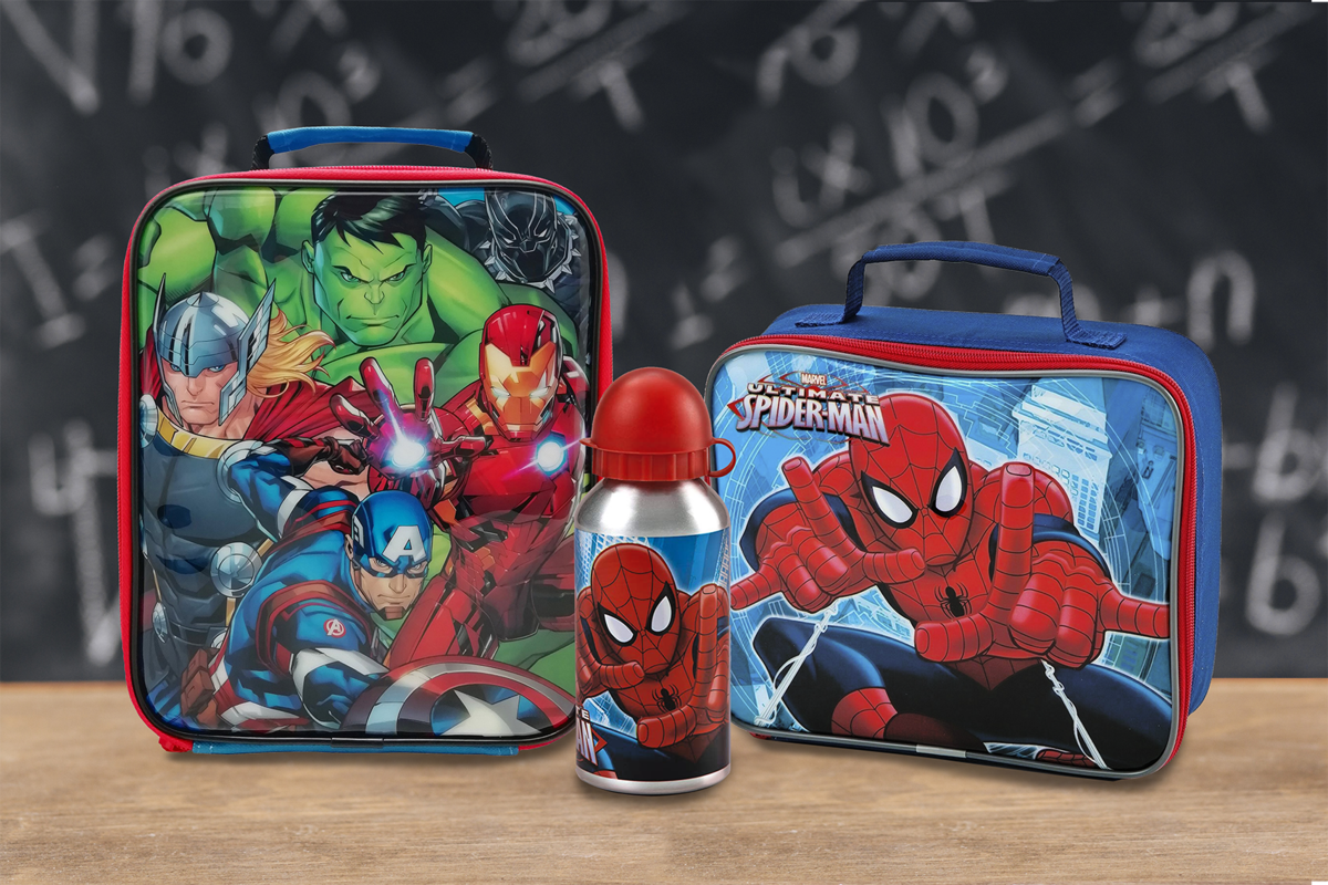 Influential Design Avenger and Spiderman lunchbag