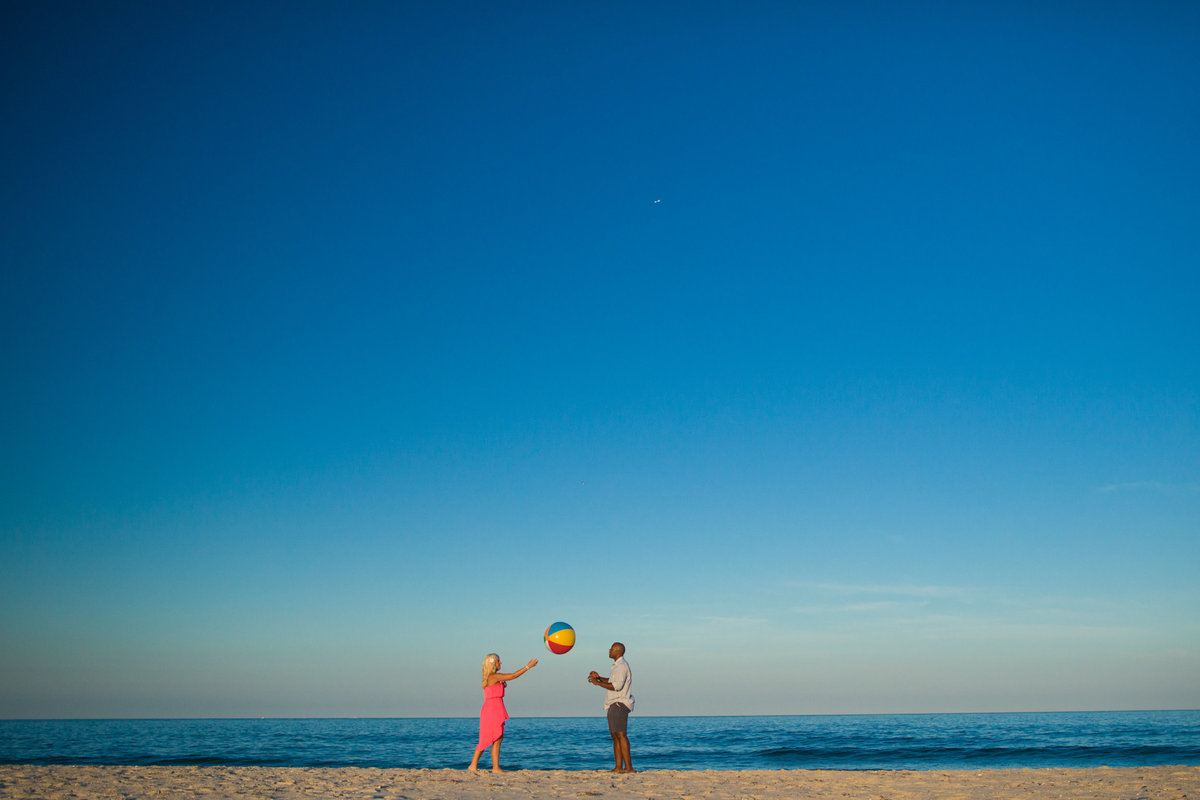 Jersey Shore engagement session on the beach