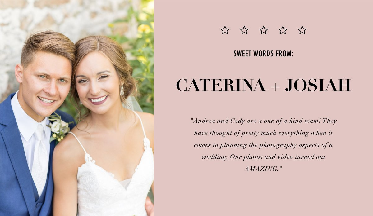 Caterina and Josiah review
