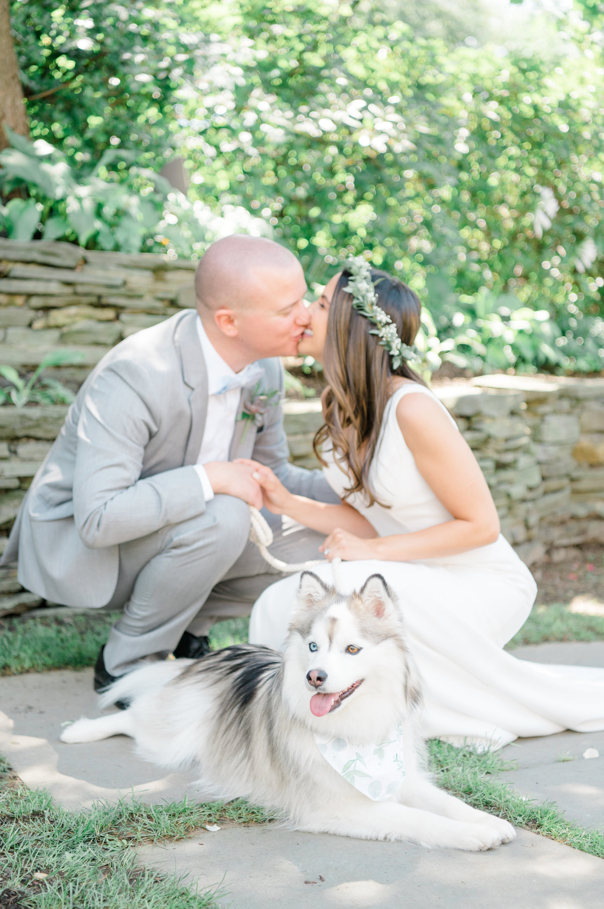 Wedding-Photographer-Near-me-NY-Bride-and-Groom-with-dog-Jennifer-Lam-Photography
