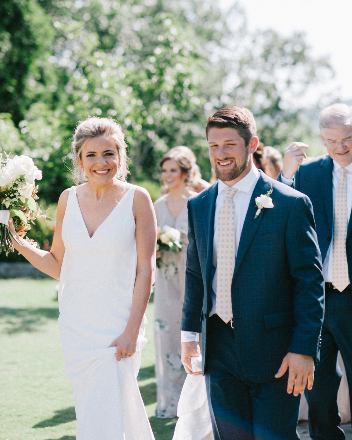 Couple smiling on their wedding day at Park Crest in Hoover AL