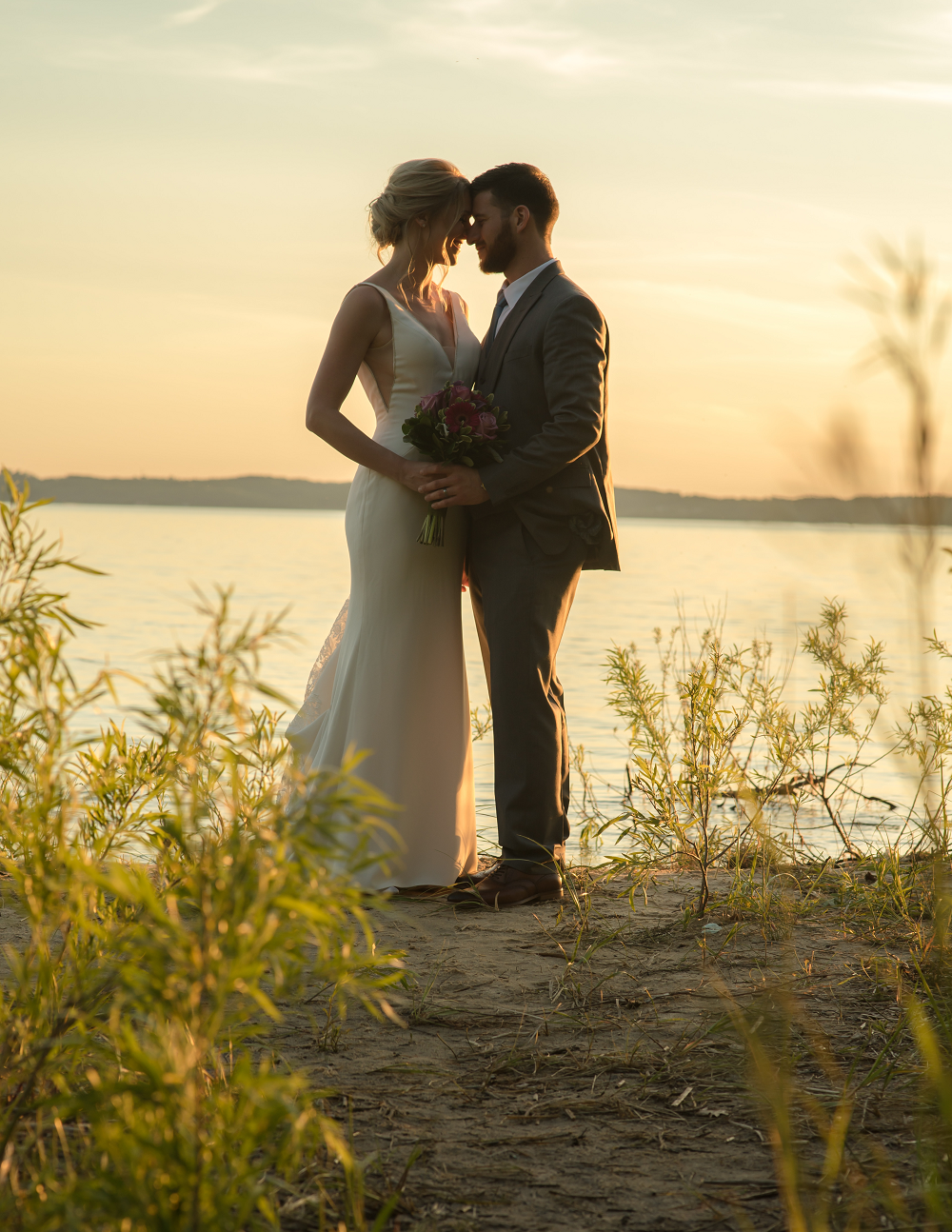 DESTINATION WEDDING IN TRAVERSE CITY WITH KRISTEN AND SCOTT Sunset Bridal Portraits