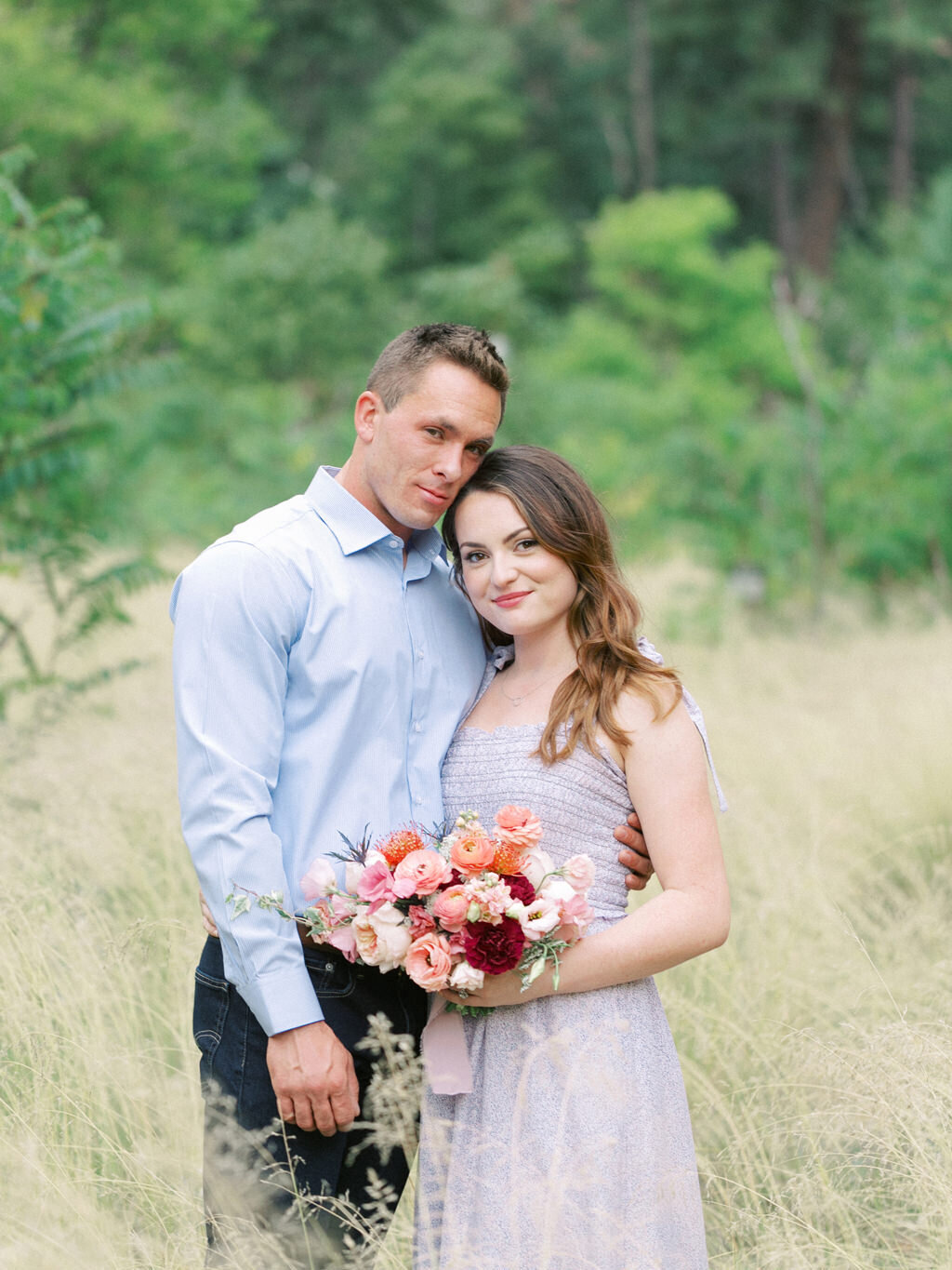 Aubrey & Joey Sedona West Fork Trail Fall Fine Art Engagement Session Ball Photo Co-20