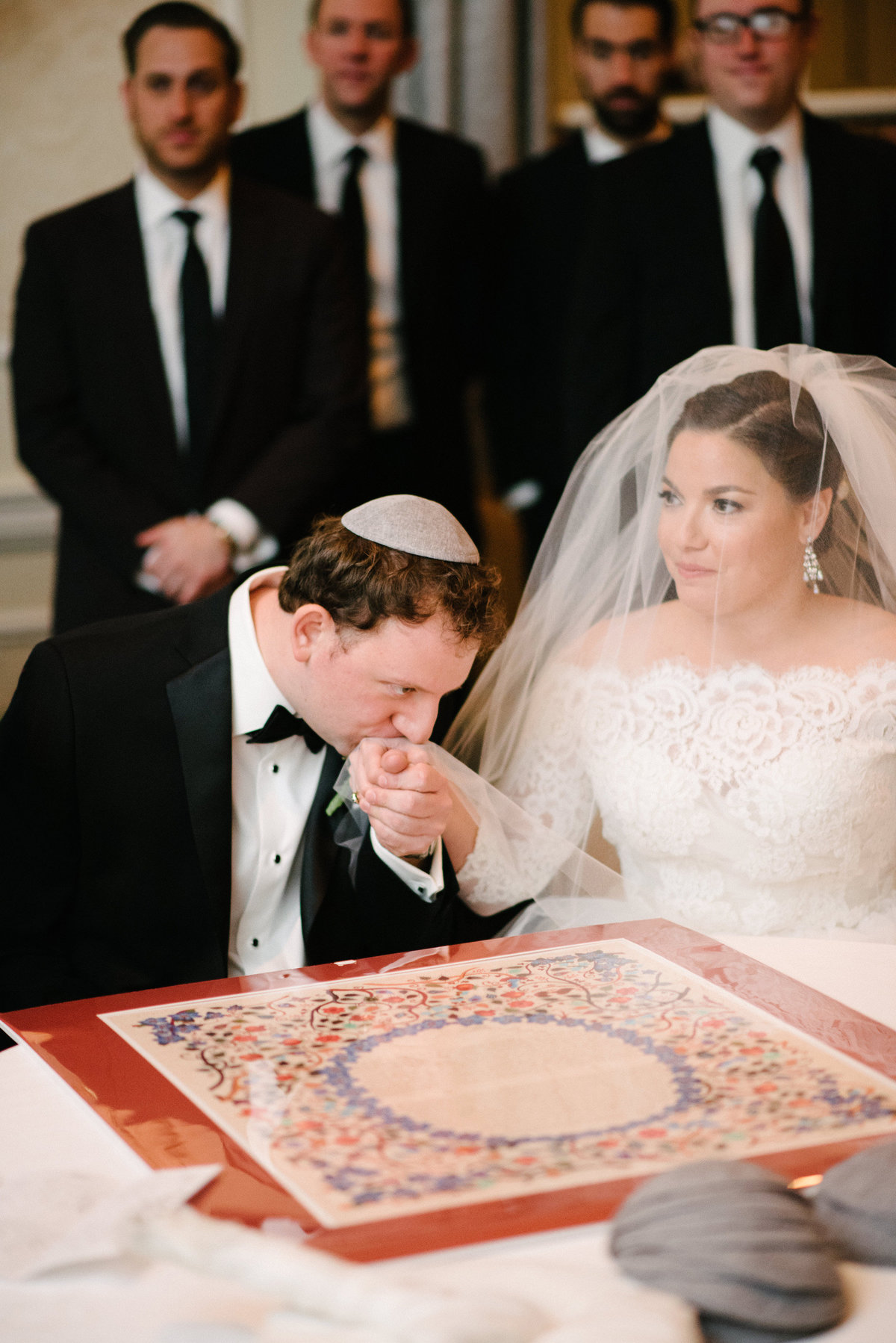 ketubah signing wedding photo