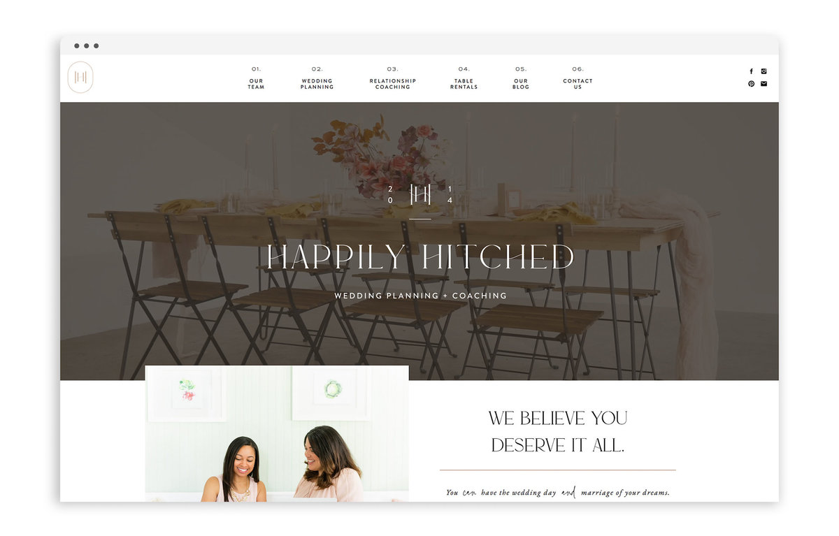 Happily Hitched by With Grace and Gold - Best Showit Design Designs Designer Designers Theme Themes Template Templates Web Website Websites for Photographers Creatives Small Business Owners - 0