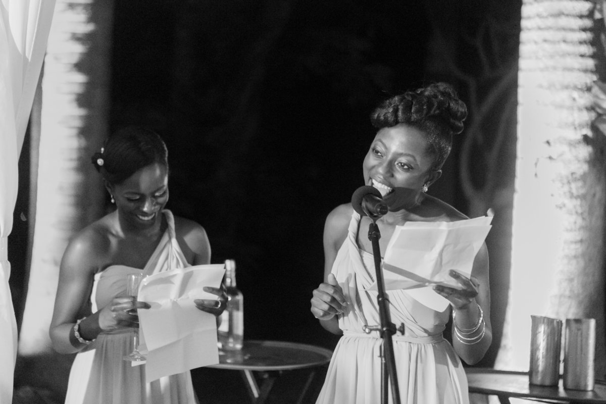Maid of Honor speech at destination wedding Barbados