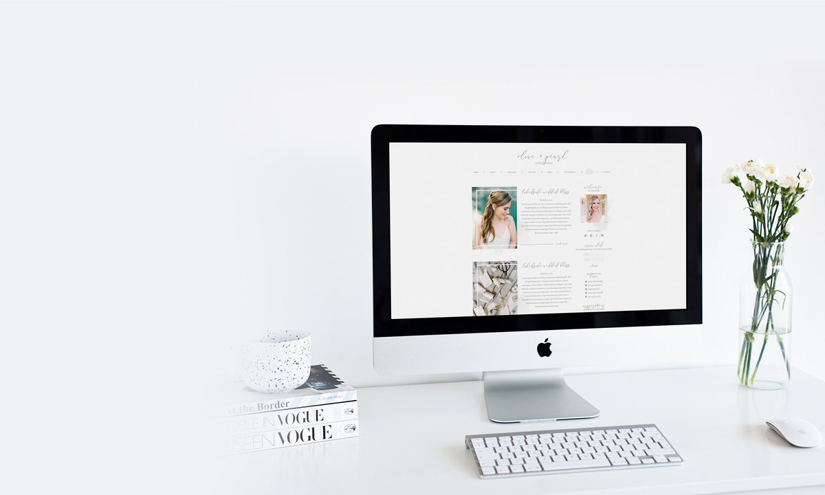 The Olive Collective || 7-Page Showit5 website and blog designed with the wedding planner specifically in mind