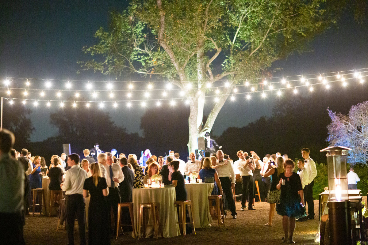 al fresco evening wedding