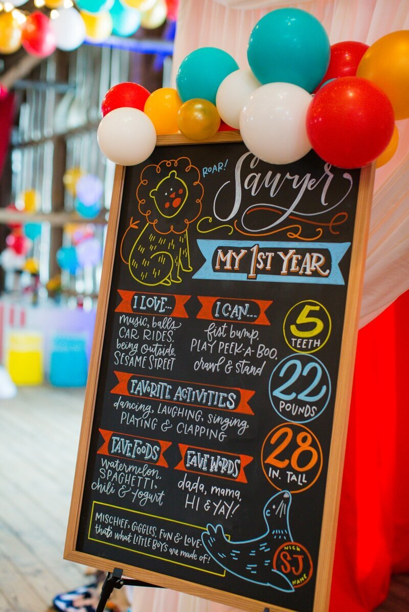 Circus Themed 1st Birthday Indianapolis Party Planner_0103