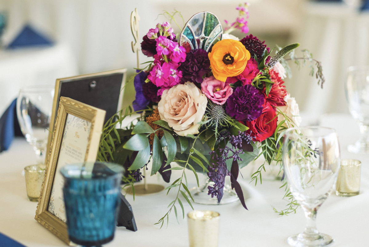 fall jewel tone colors wedding