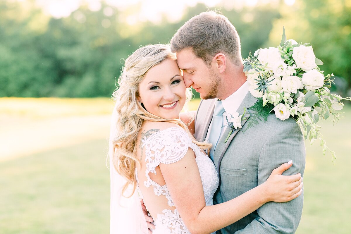 Bride and groom portrait in Charlotte nc
