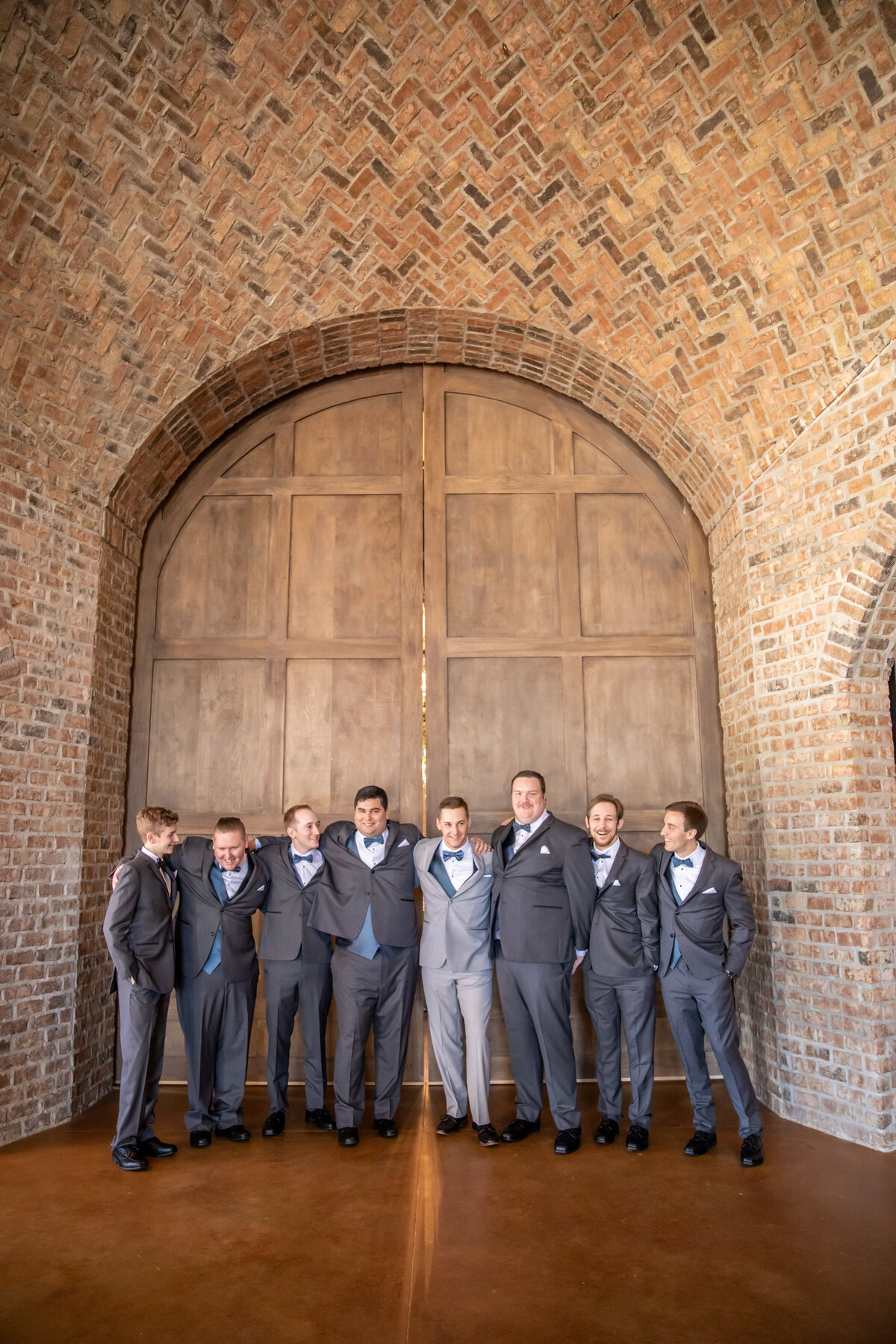 Groomsmen Portrait at Iron Manor in Montgomery, TX