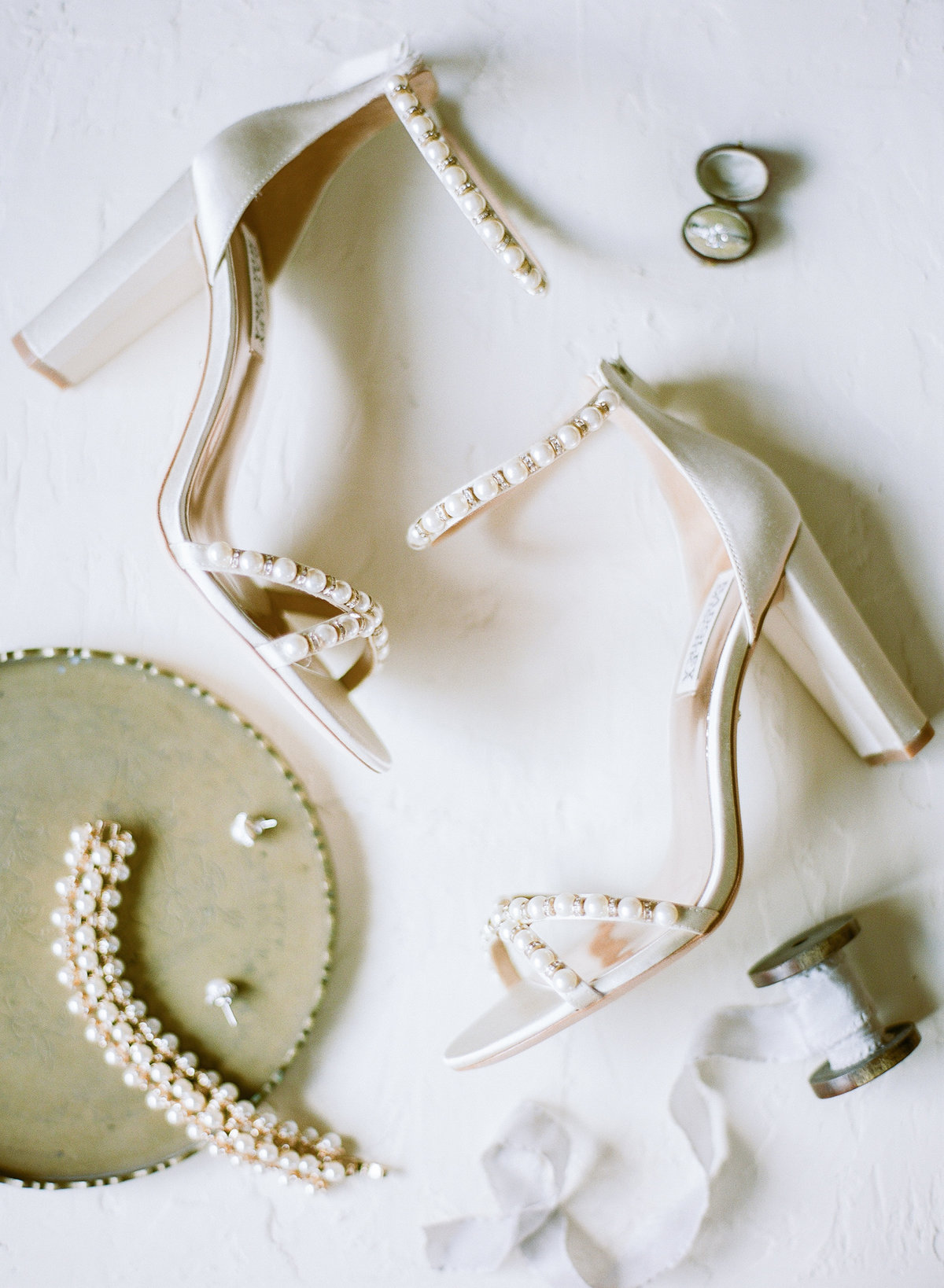 Charleston Wedding Bridal Details Pearl Jewelry Shoes