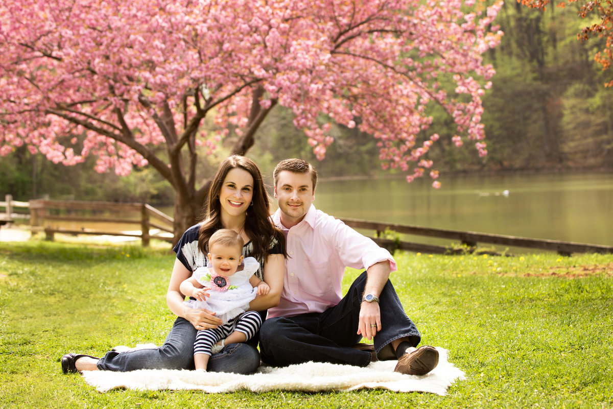Baltimore family enjoying their family photos being taken outside