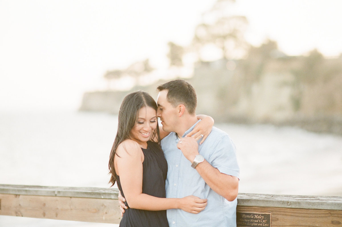 California Beach Pier Engagement Photos