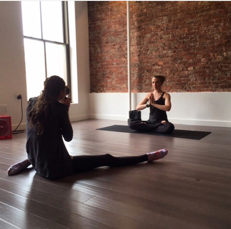 Laura Volpacchio photographs a yoga branding session in the Hudson Valley