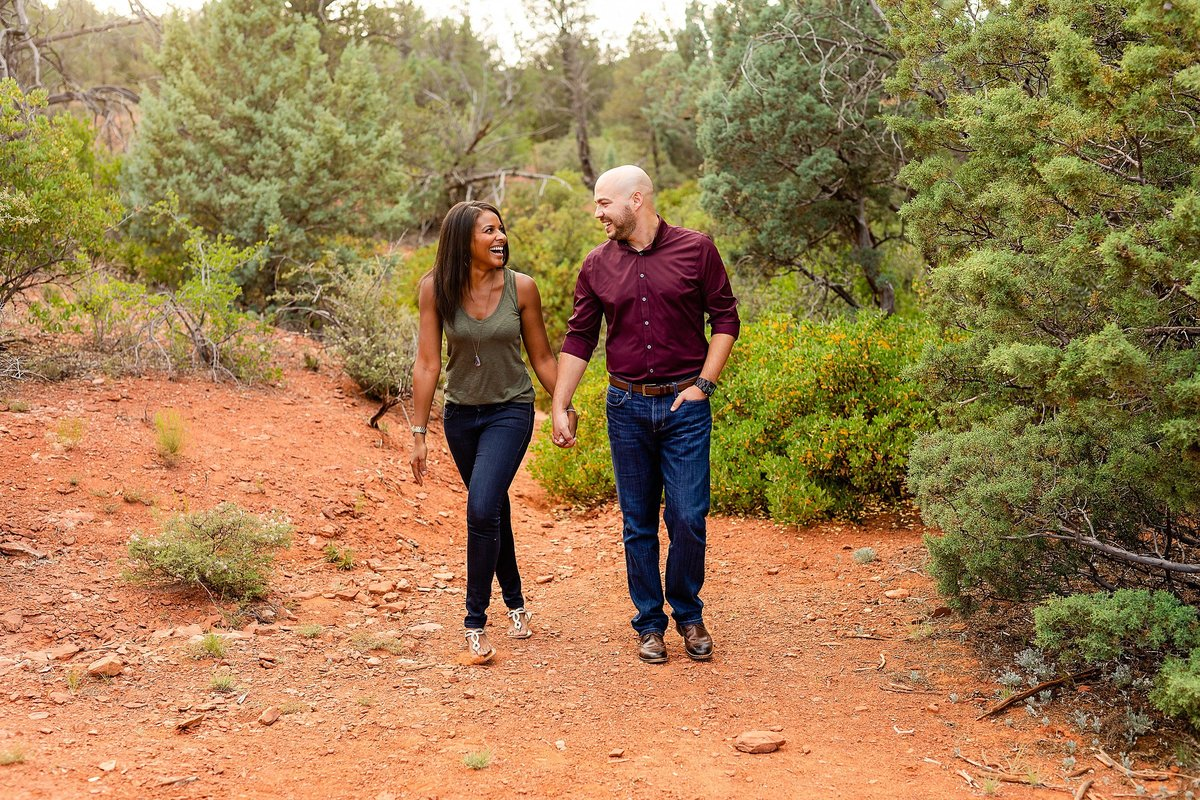 Monica + Austin - Sedona Engagement Session - Cathedral Rock - Lunabear Studios_0180
