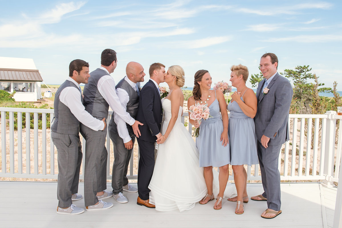 Funny bridal party photo at Oceanbleu