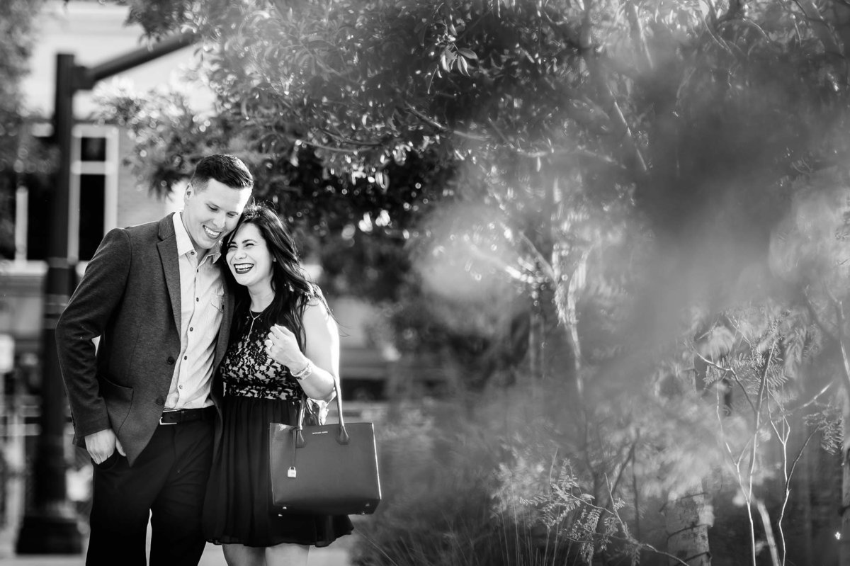 engagement photo at san jacinto plaza in el paso texas by stephane lemaire photography