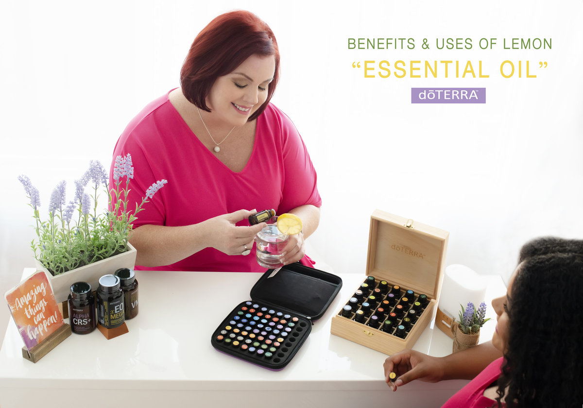 business website photography product showcasing   essential oils coach representative agent  working with her client personal branding image testing different kinds of oils .sitting on a desk with kit display in  pink  color  dress