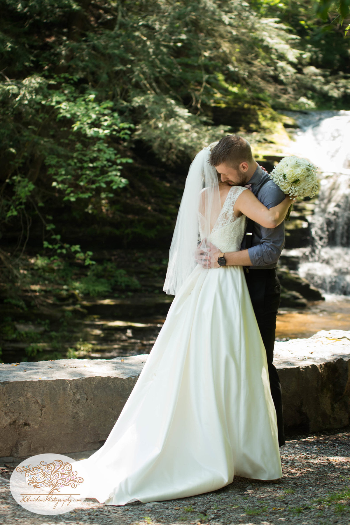 Robert Treman State Park Ithaca NY Wedding First Look-9
